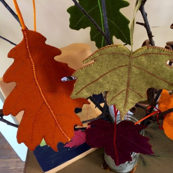 Felted leaf making kit