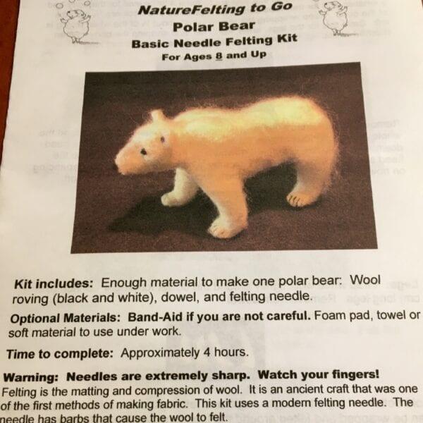 Polar Bear Felting Kit